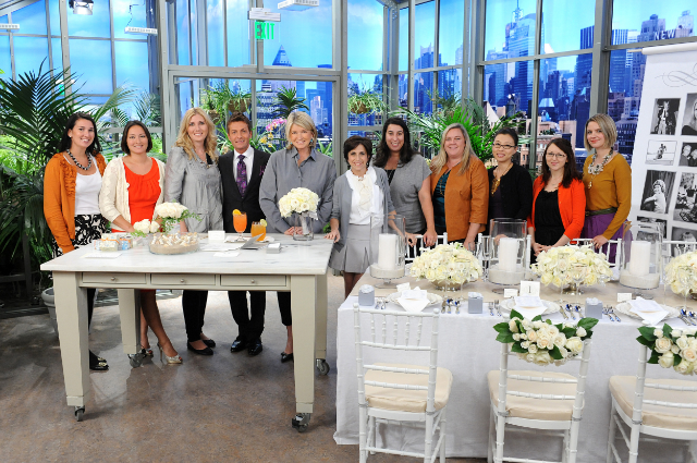 Stephanie and other wedding industry friends as special guests at the Martha Stewart Show talking wedding planning / Photo Courtesy The Martha Stewart Show