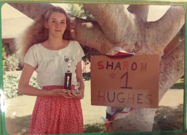Sharon in middle school after a math competition / Photo courtesy Sharon Wienbar