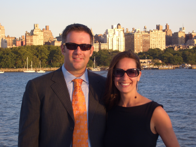 Sarah and her husband Rob at a Friend's wedding in NYC / photo courtesy Sarah Coglianese