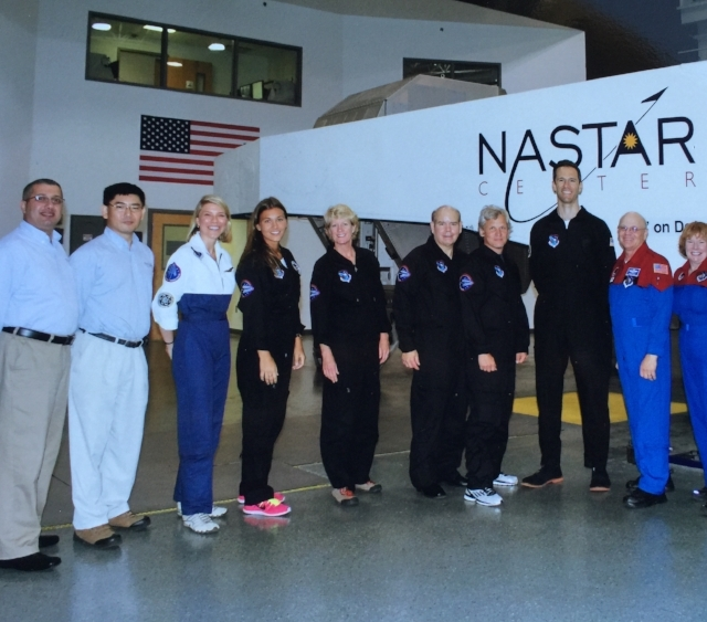 Normal   0           false   false   false     EN-US   X-NONE   X-NONE                                                                                                                                                                                                                                                                                                                                                                                                                                                                                                                                                                                                                                                                                                                                                                                                                                                               The NASTAR training simulator, the instructors, and the future sub-orbital astronauts. MJ is fifth from the left (2013) / Photo Courtesy MJ MARGGRAFF