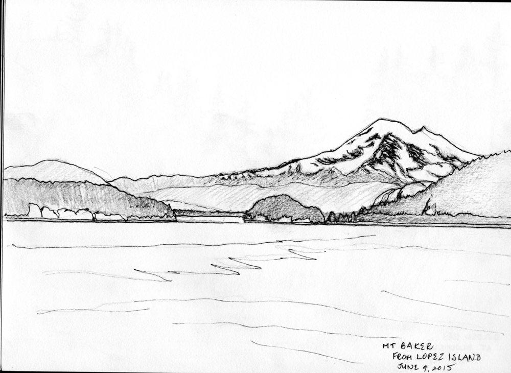 Mt. Baker from Lopez Island