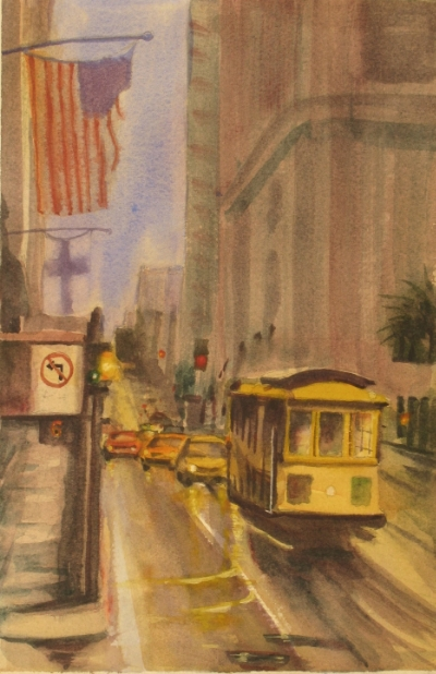 Damp day in San Francisco