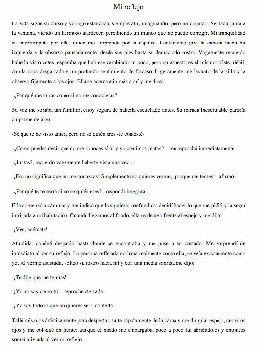 Mi Reflejo (My Reflection)
