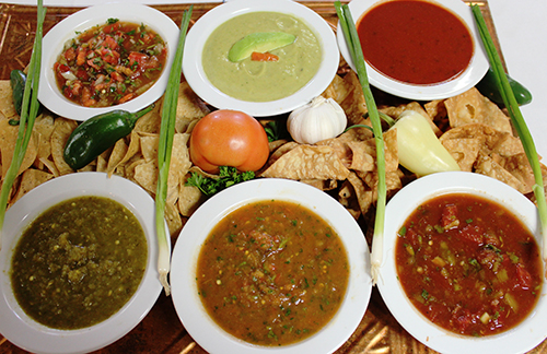 Sylvia's fresh assortment of Salsa.