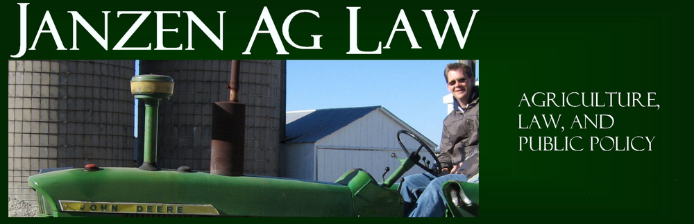Janzen Ag Law Blog 1.0