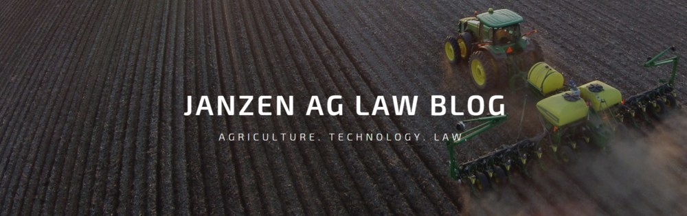 Janzen Ag Law Blog 3.0
