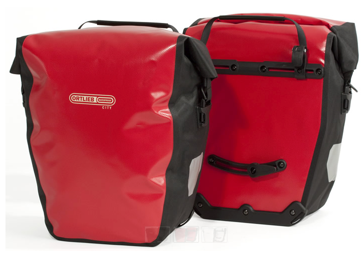 Waterproof Panniers - they can easily be clipped on and off the bike..
