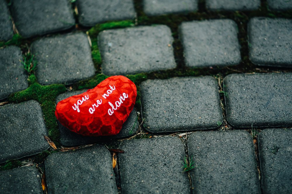 kaboompics_Small red heart on a cobblestone path.jpg
