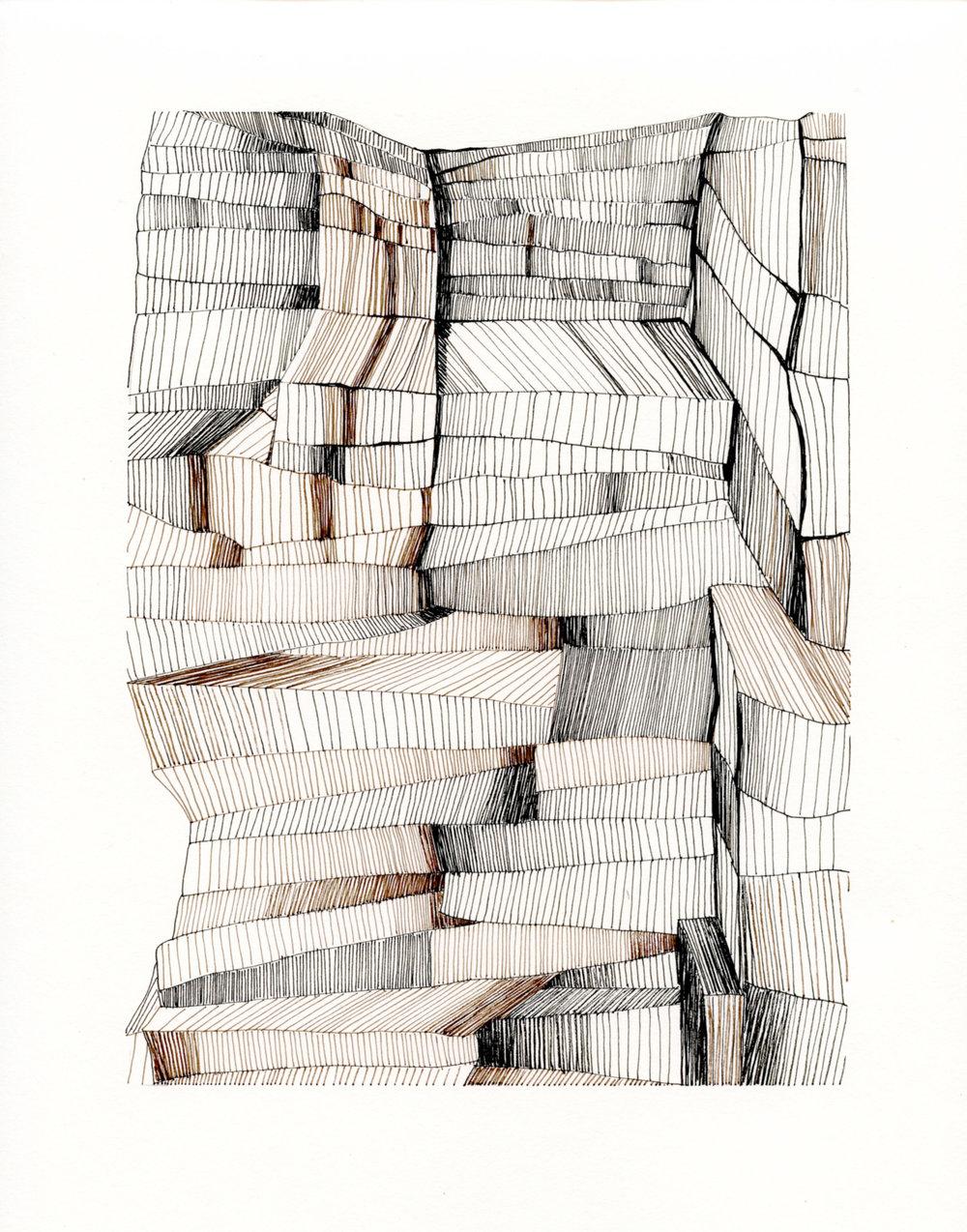 Line drawing VIII, 2018