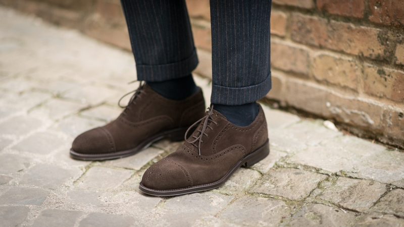 Brown suede oxfords from Velasca