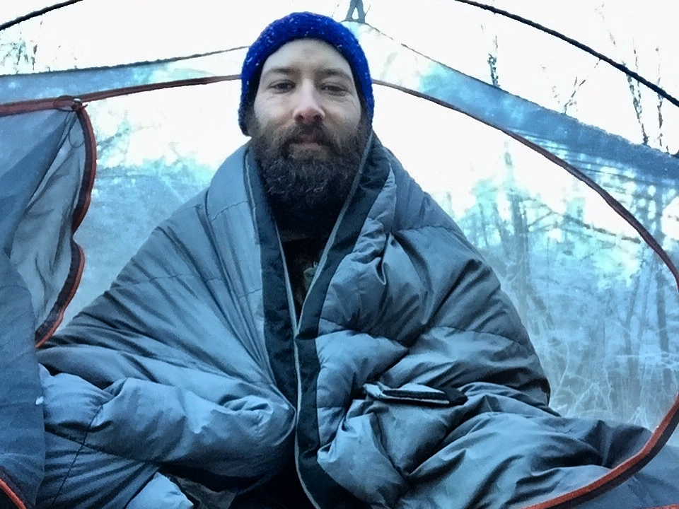 Overnight winter bikepacking trip to Mt. Pisgah. Temp in the pic approximately 0ºF -