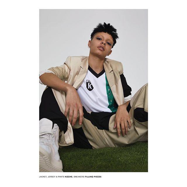 "NEW PRINT EDITORIAL ""ONE-TWO"" for @highsnobiety / team: photographer: @paolo_m_testa / Stylist: @jennyhaapala / hair: yuhi kim / mua: @ayaka_nihei / set design: @colinl_ / production: @nastiasans / talent: @igeeeeezy"