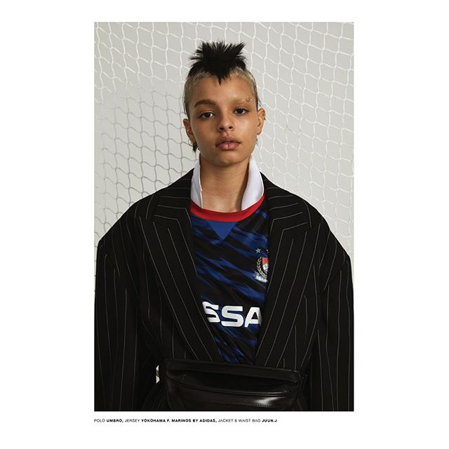 "NEW PRINT EDITORIAL ""ONE-TWO"" for @highsnobiety / team: photographer: @paolo_m_testa / Stylist: @jennyhaapala / hair: yuhi kim / mus: @ayaka_nihei / set design: @colinl_ / production: @nastiasans / talent: @igeeeeezy"
