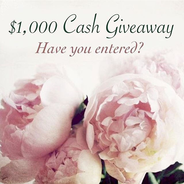 Want to win $1,000 PayPal CASH 💵 to spend however you want?  See the original post on my page and there's still time to enter! 😉💗