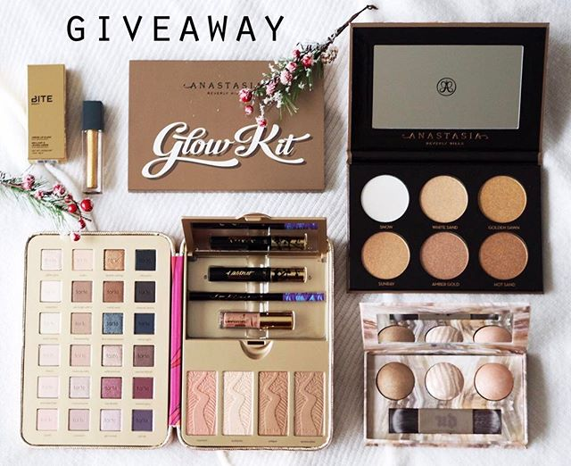 INTERNATIONAL GIVEAWAY! ✨ I've partnered with my favourite bloggers to give one lucky follower this prize that  includes Urban Decay Illuminated Trio palette, Anastasia Beverly Hills Glow Kit, Bite Gold lipstick and a limited edition Tarte box To participate: 1. Follow me 2. Like this picture 3. Go to @milaantonovic and repeat the steps 4. Follow this same steps on every account until you come back to me or the account you started with and leave a comment when you're done. If you want a double chance to win, tag/mention some real friends on the comments below.  Competition starts on 01/12 and ends on 01/14. Winner will be announced on a comment on this pic on all accounts. Please be patient as we need to verify everyone who entered followed all steps correctly! 💋 *This contest is in no way sponsored, administered, or associated with Instagram, Inc.  By entering, entrants confirm that they are 13+ years of age, release Instagram of responsibility, and agree to Instagram's terms of use.