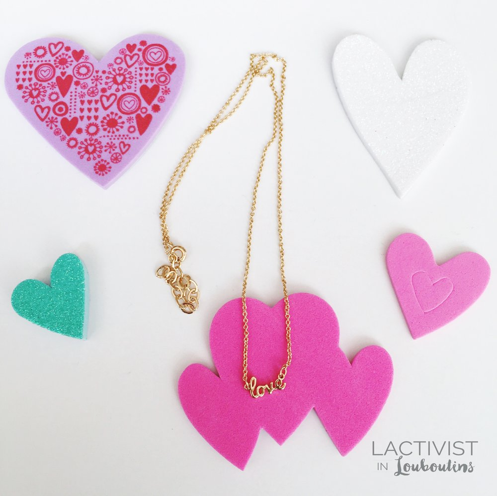 Kris Nations  love  necklace
