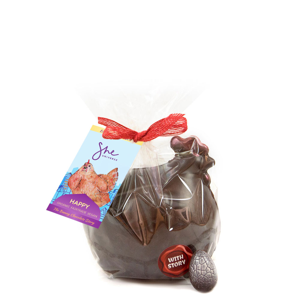 Happy The Hen - Last year 'Happy' was sugar free, but this year she is the dairy free offering for children. We can custom make her in sugar free for your customers if required.(2018 image shown for mold shape - new image coming soon)