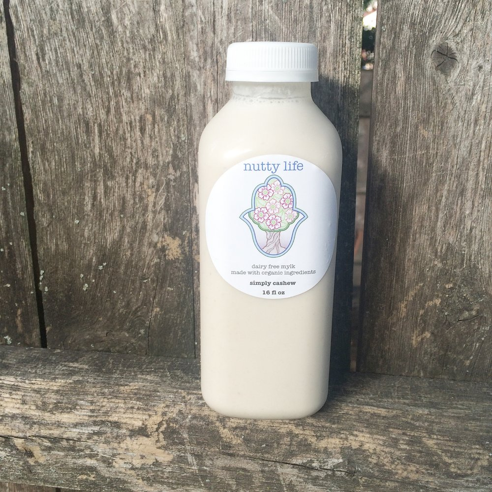 Nutty Life simply cashew milk! :) Launching in stores this month!