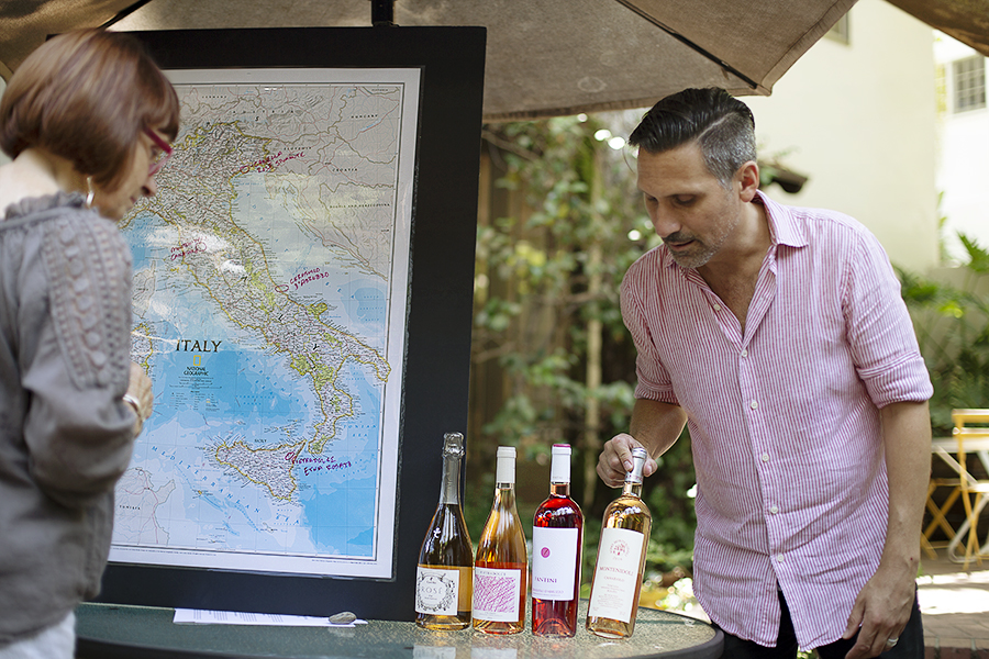Rose All'Italiana - We cam back to Bronson Canyon to taste four Italian rosés.Photography by Agustin Cruz