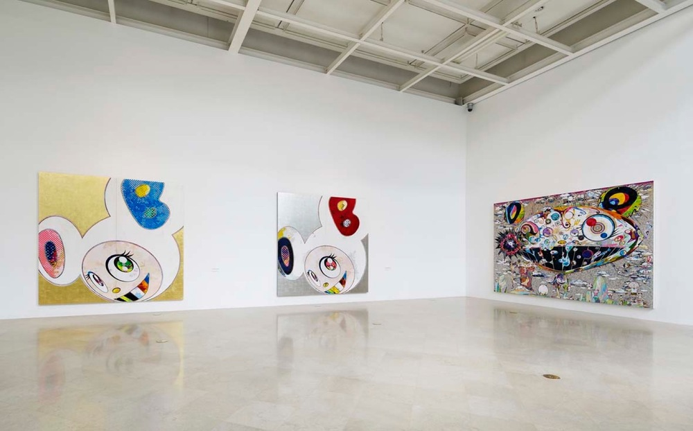 "Installation view of the ""Takashi in Superflat Wonderland"" exhibition at Plateau, Samsung Plateau Museum, Seoul (Korea), 2013"
