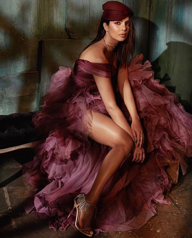 @priyankachopra for @harpersbazaarvn ❣️ Makeup by @patrickta assisted by me