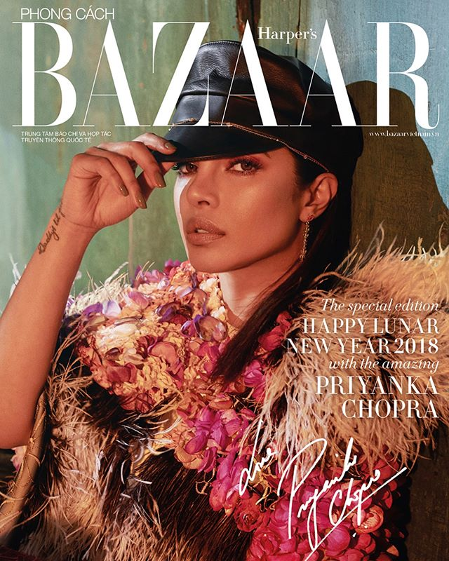 @priyankachopra for @harpersbazaarvn! Makeup by @patrickta assisted by me 💕