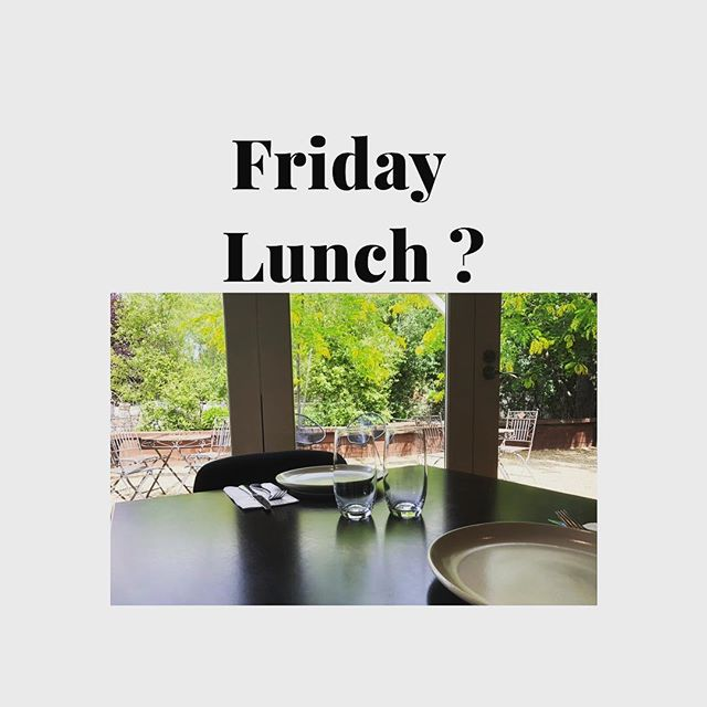 This weeks Friday lunch special is chicken schnitzel with herb butter and salad $16 with a glass of wine or a beer