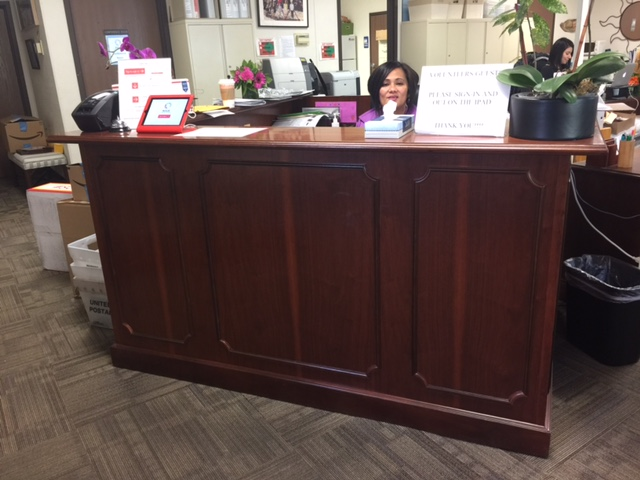 Grab a piece of BCS history, with wooden reception desk (Aumi not included)