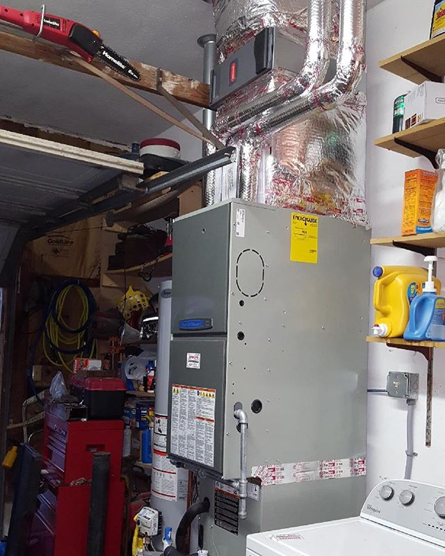 Gas furnace and a/c by Julio and crew #hvac #lovewhatyoudo #vabeach