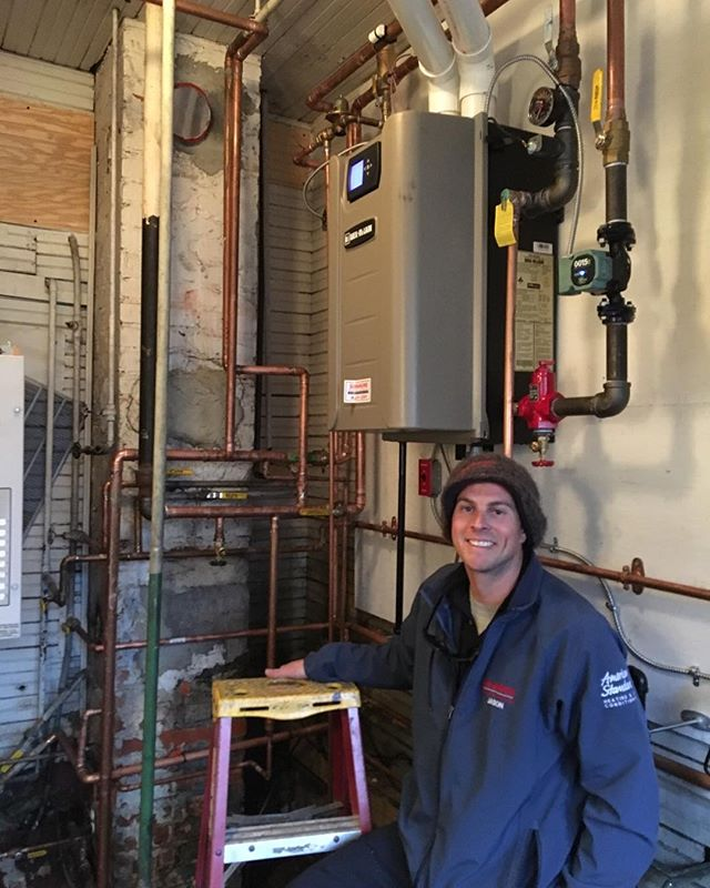 Finishing up a boiler on a cold Friday #weilmclain #hvac #norfolk
