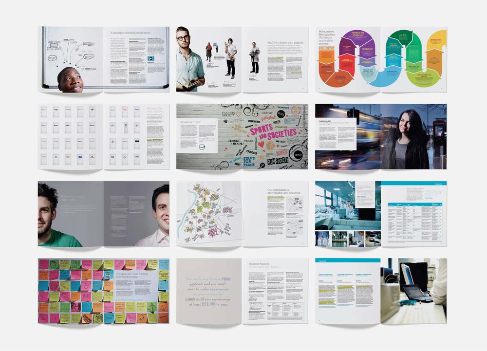 Manchester Metropolitan University (MMU) Prospectus Designs