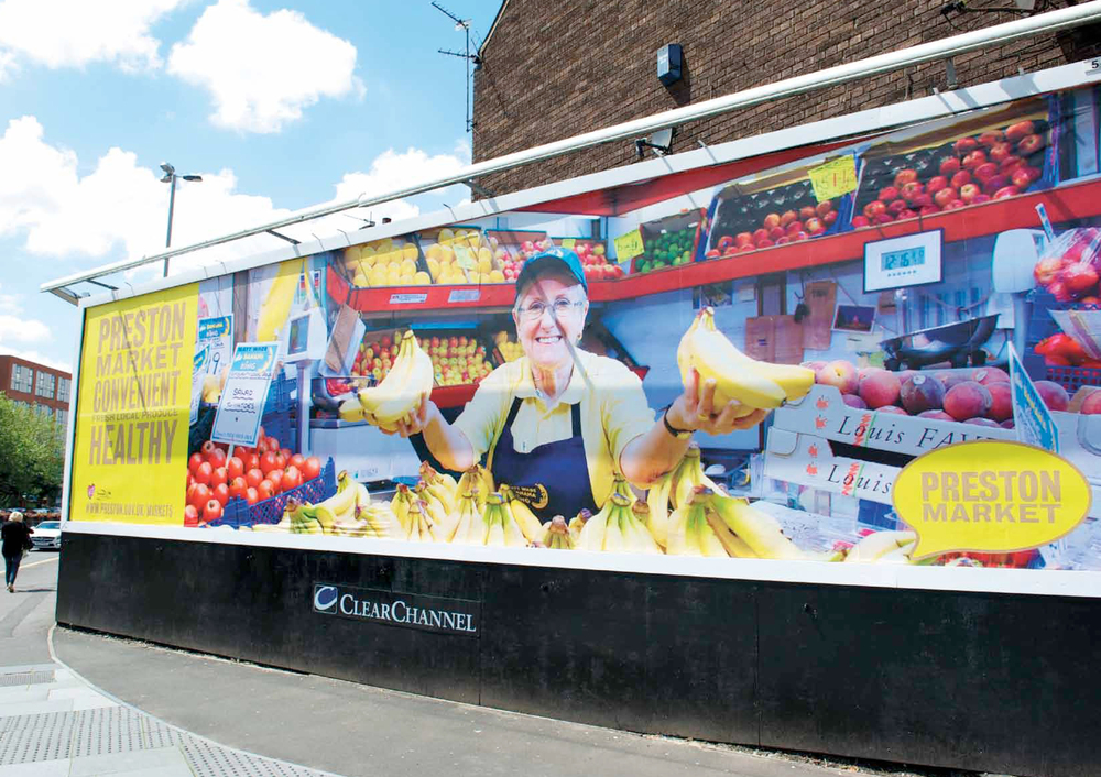 Preston Market Advertising Campaign Billboard