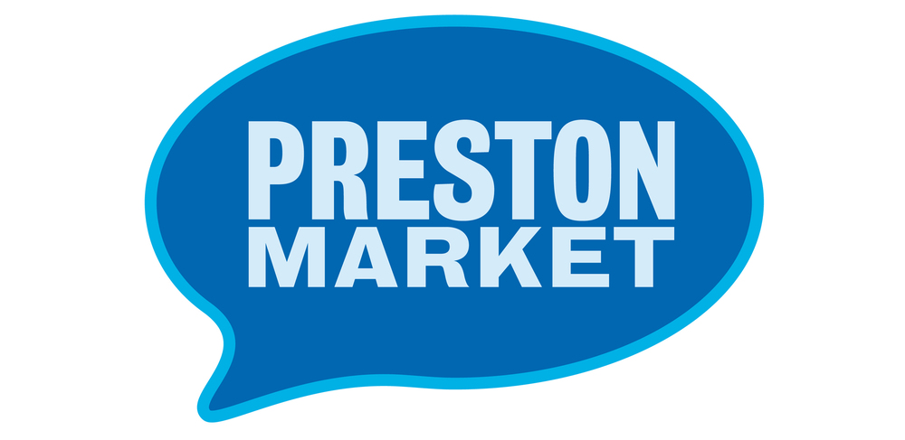 Preston Market logo design