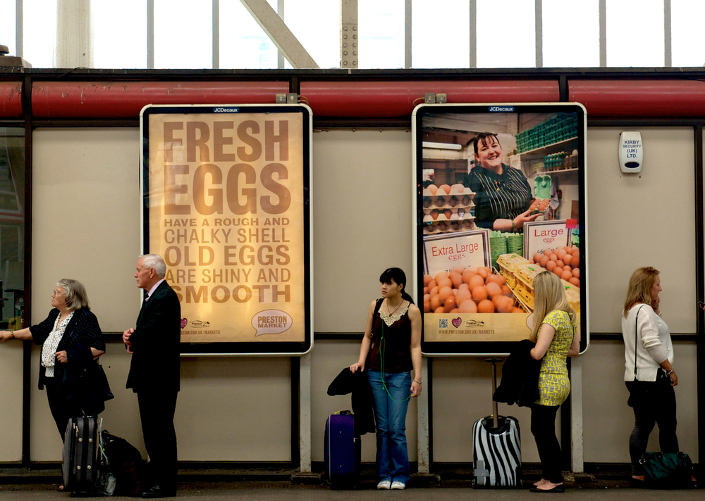 Preston Market Advertising Campaign Preston Train Station