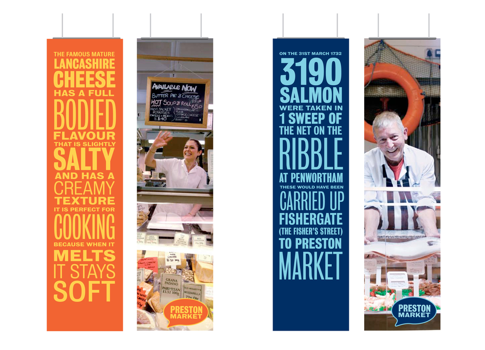 Preston Market hanging banners design