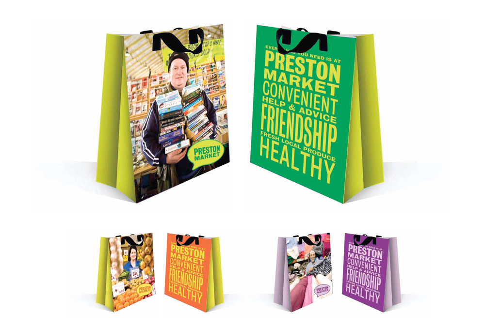 Preston Market carrier bags design