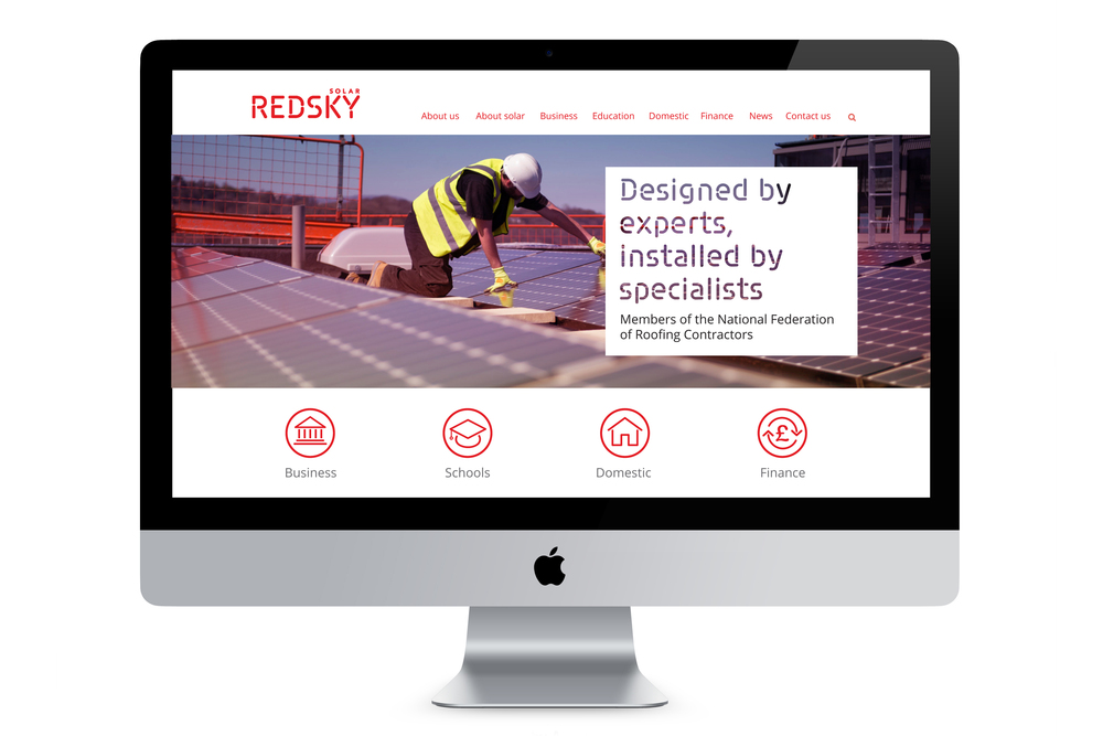Redsky Solar, St Helens, website design