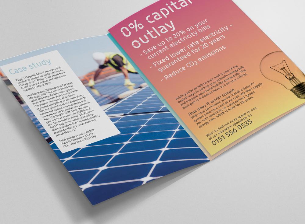 Redsky Solar, St Helens, Leaflet design spread1