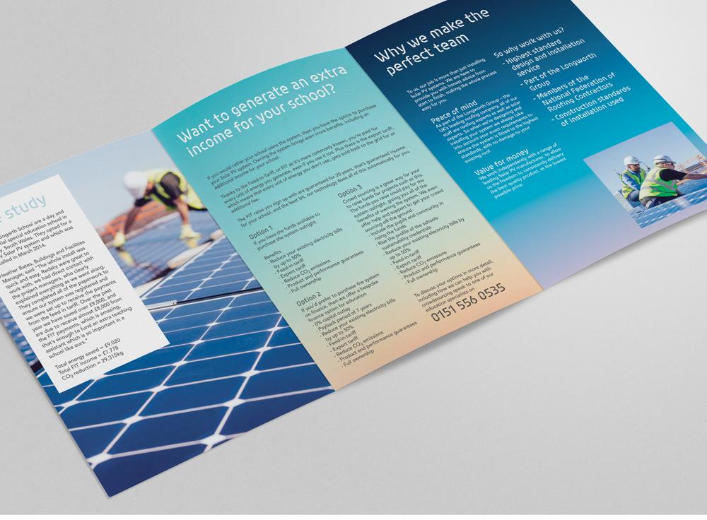 Redsky Solar, St Helens, leaflet design spread2
