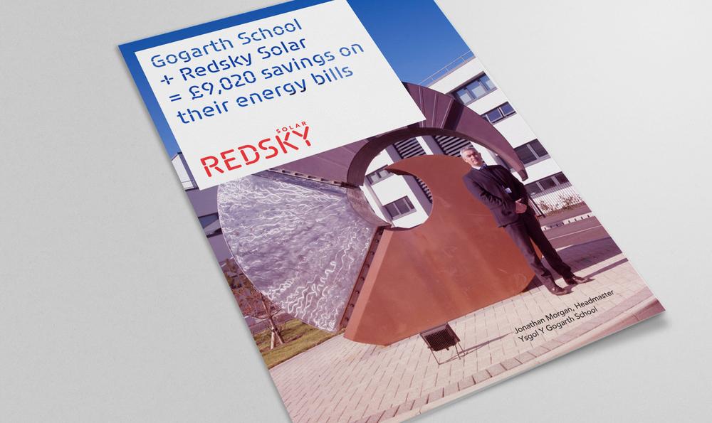 Redsky Solar, St Helens, leaflet design front cover