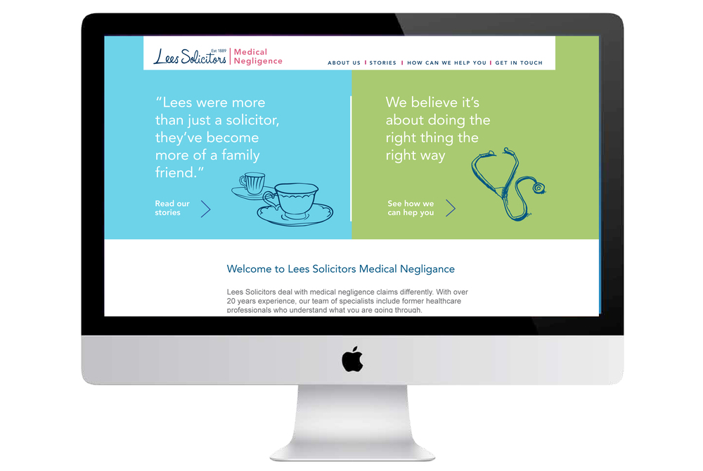 Lees Solicitors Medical Negligence Branding website design