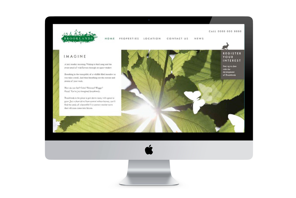 Brooklands identity website design