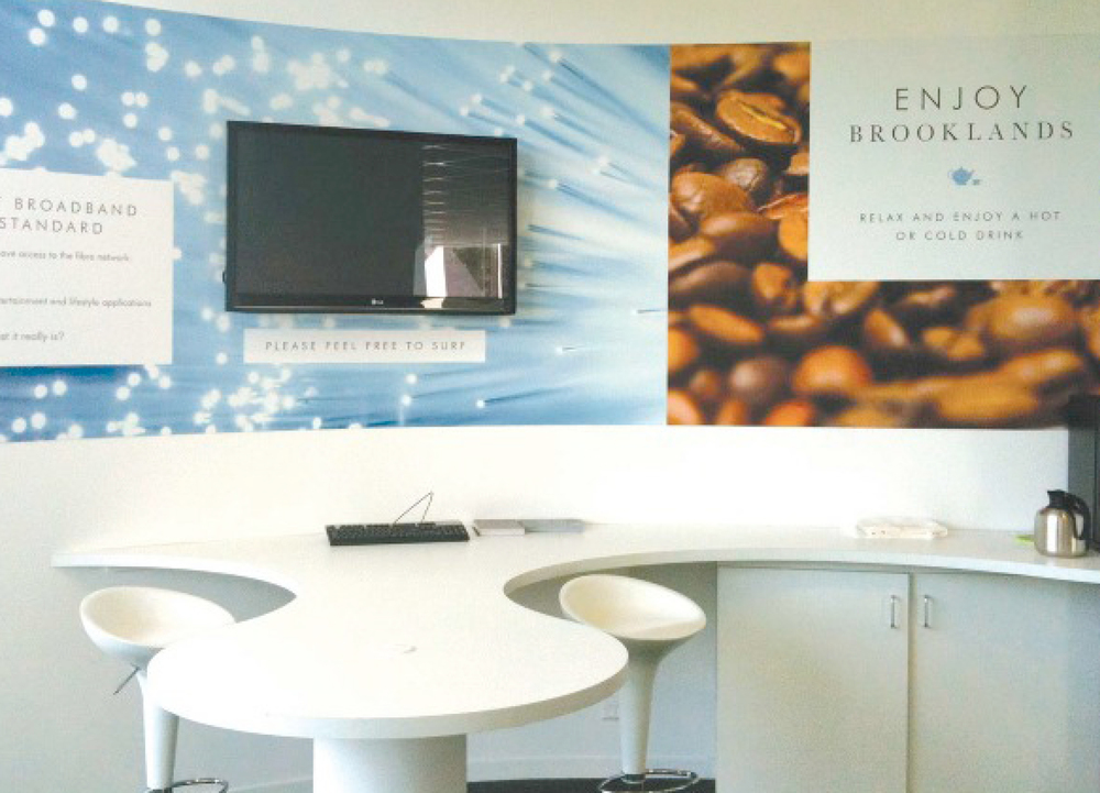 brooklands identity marketing suite interior designs