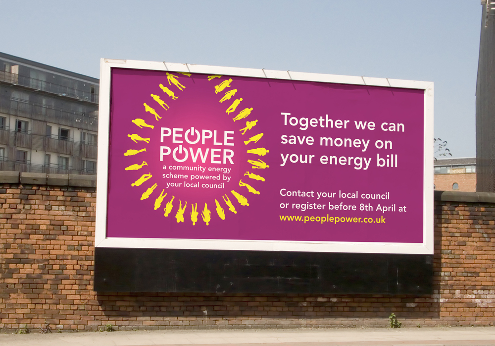People Power Energy Campaign Branding Billboard design