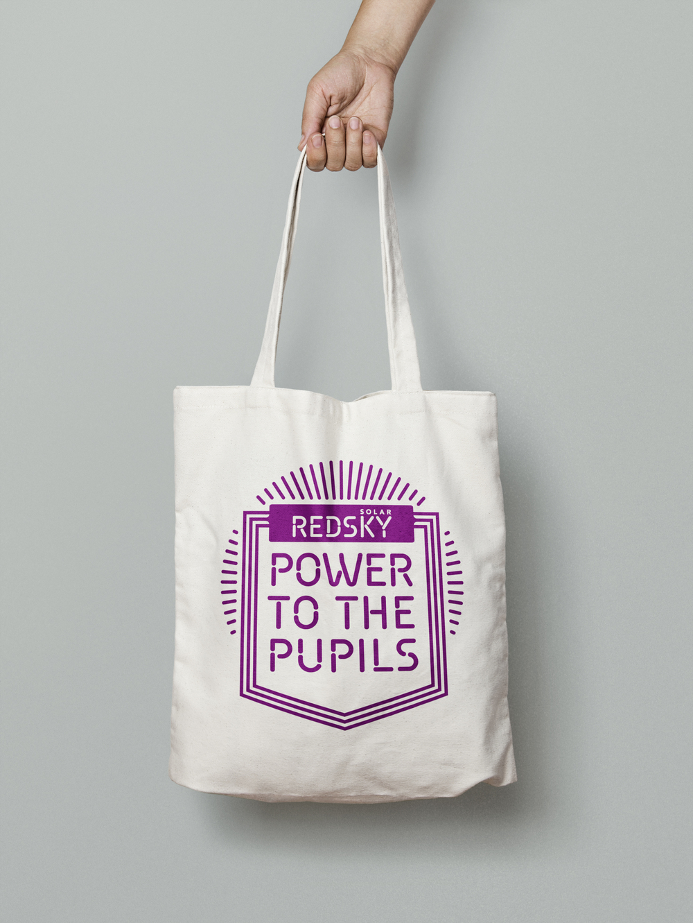 Power to the Pupils Design and Marketing campaign bag design