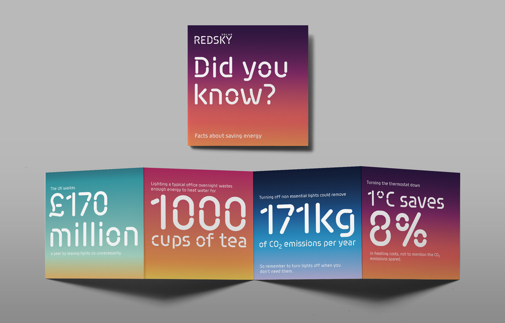 Redsky Solar, St Helens, Leaflet Facts design