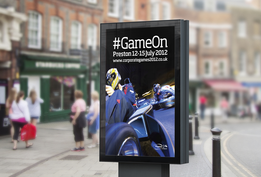 Corporate Games Preston Design and Marketing Campaign 4 sheet