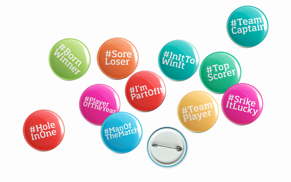 Corporate Games Preston Design and Marketing Campaign Badges