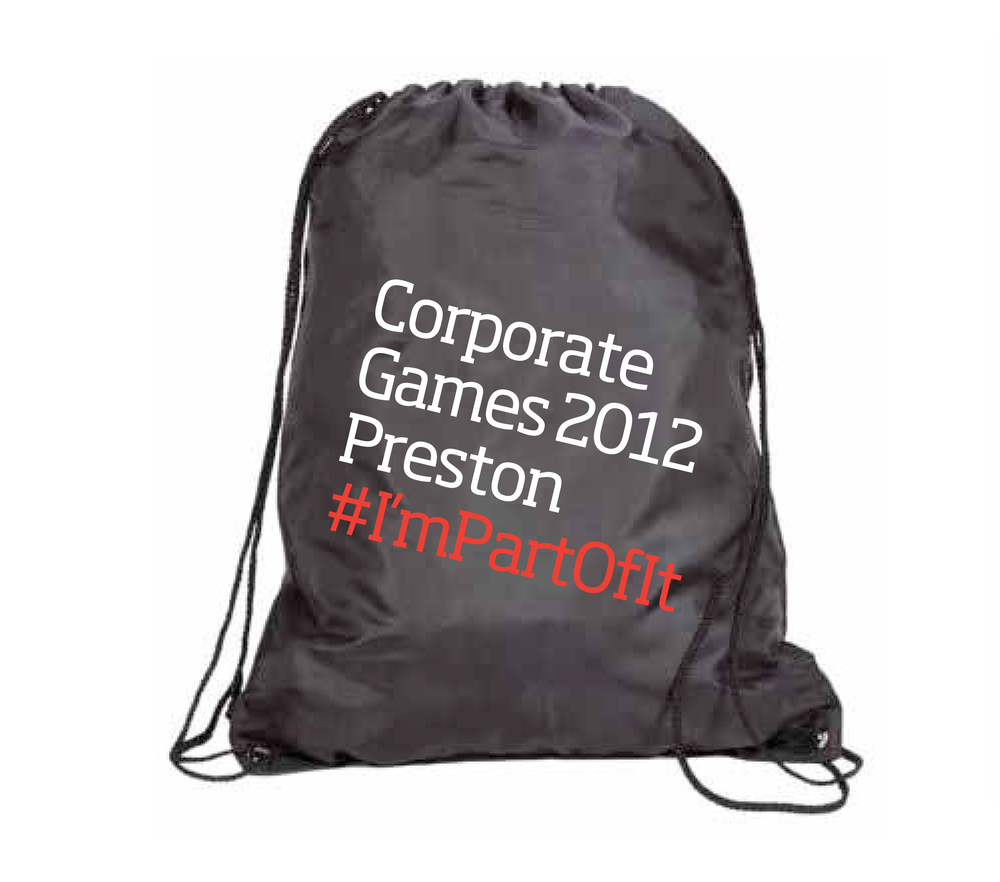 Corporate Games Preston Design and Marketing Campaign Bag design