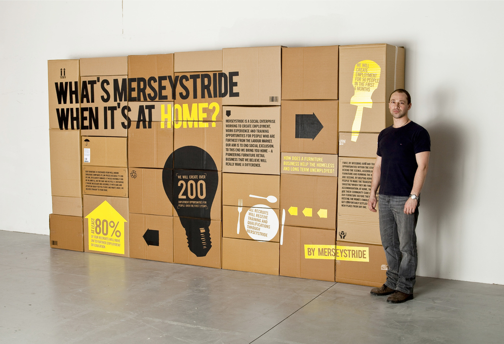Home by Merseystride branding box design